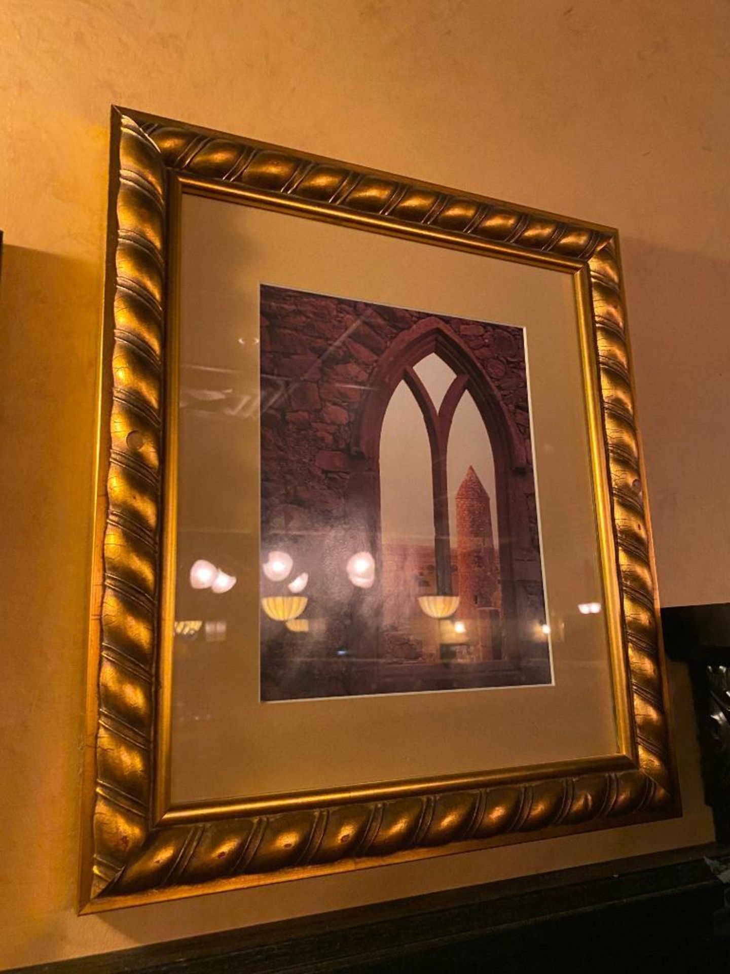 LOT OF (2) FRAMED MEMORABILIA PHOTOS & (1) SMITHWICK'S MIRROR - NOTE: REQUIRES REMOVAL FROM WALL, PL - Image 4 of 4