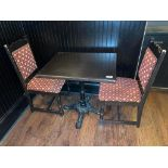 "30"" X 24"" WOOD TOP TABLE WITH 2 CHAIRS - 30"" X 24"" X 29.5"""