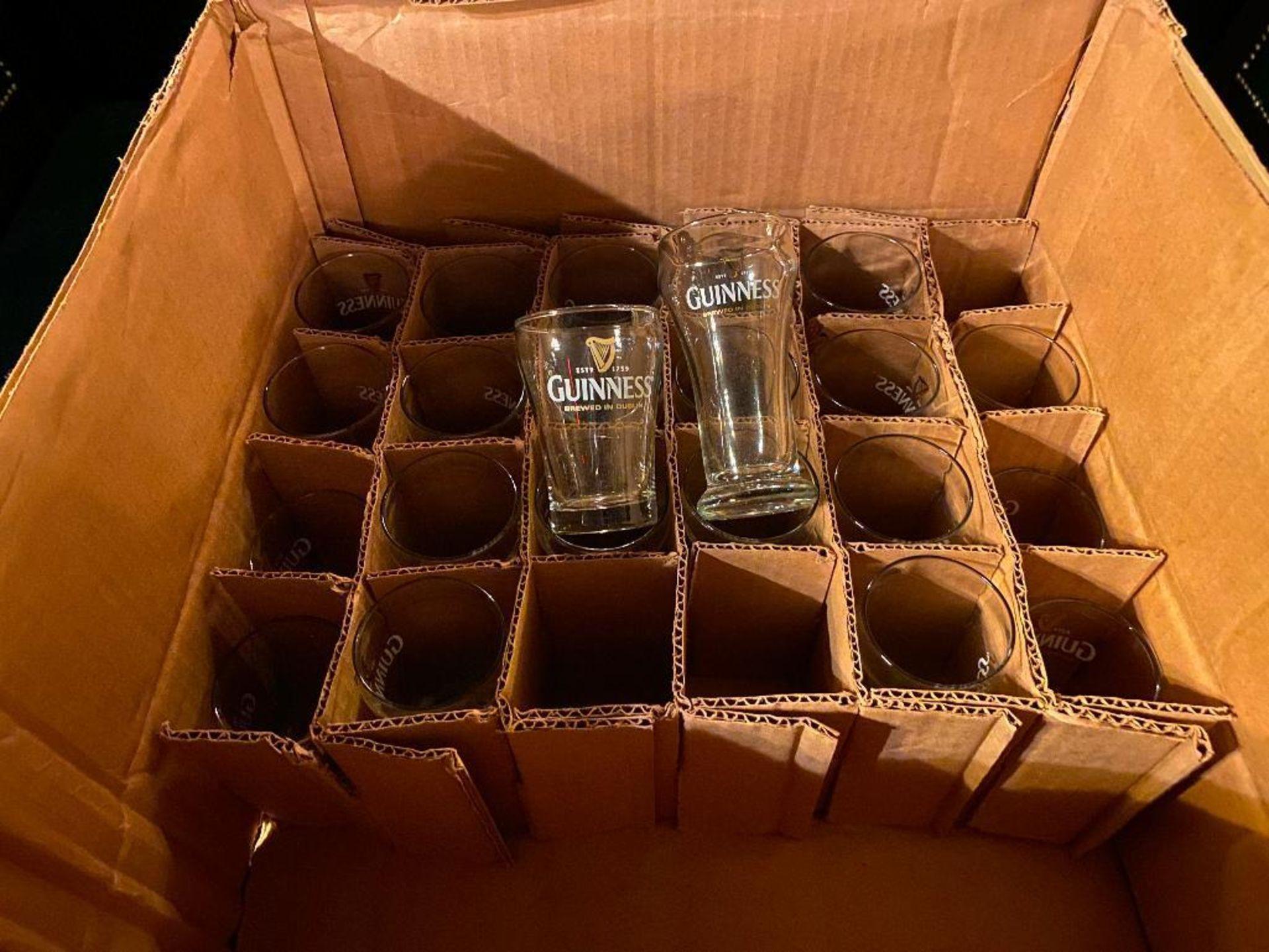 LOT OF (20) MINI GUINNESS GLASSES