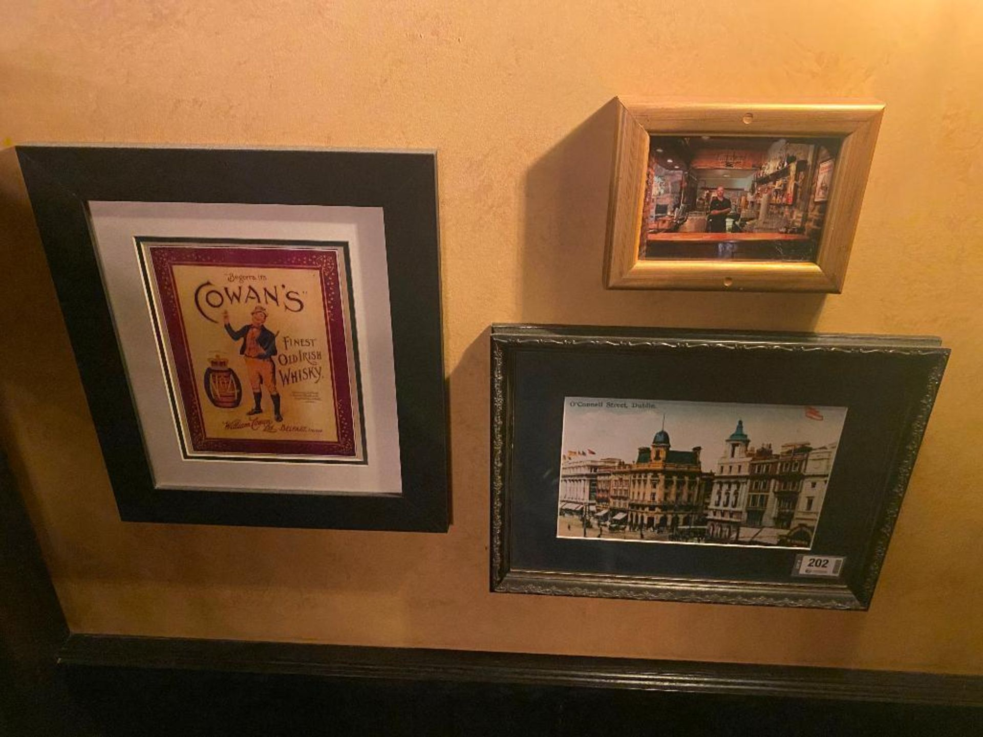 LOT OF (3) FRAMED MEMORABILIA PHOTOS & (1) SAMPLE THE TASTE IRELAND PLAQUE - NOTE: REQUIRES REMOVAL - Image 2 of 3