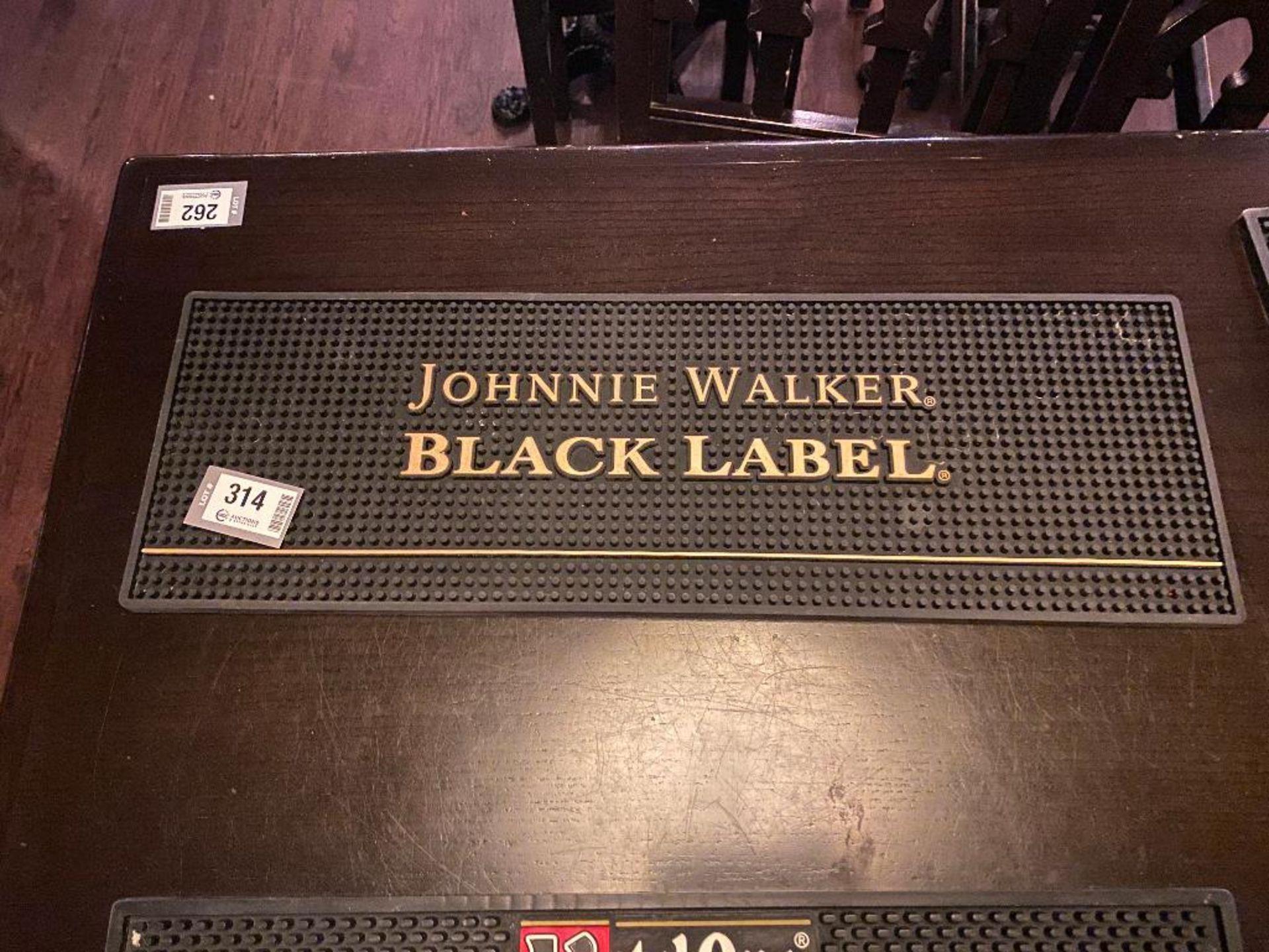 """23"""" X 7.5"""" JOHHNY WALKER BLACK LABEL BAR SPILL MAT"""