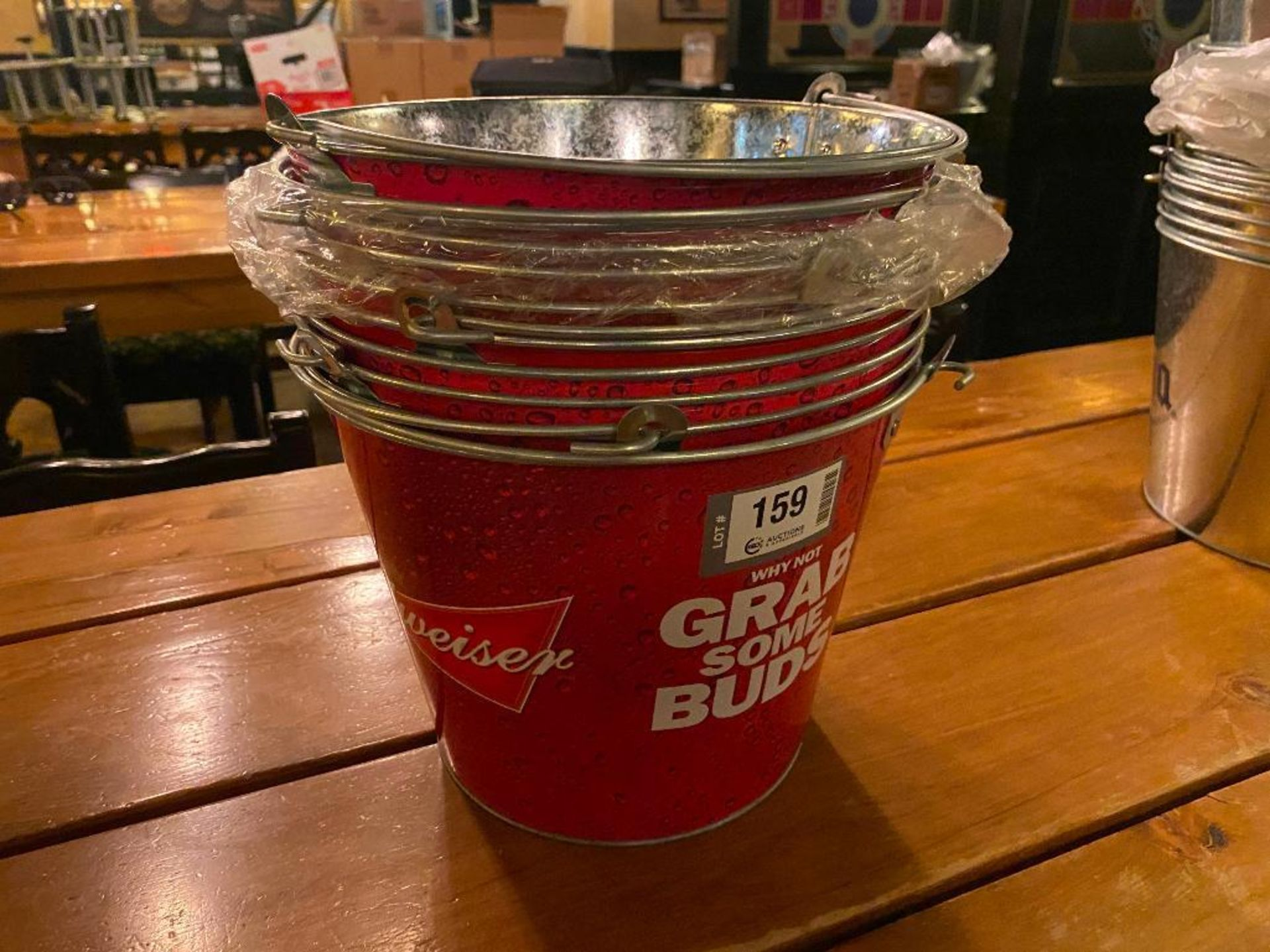 LOT OF BUDWEISER BRANDED METAL PAILS - Image 2 of 2