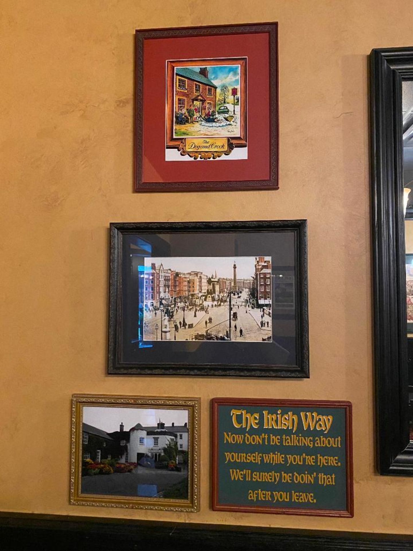 LOT OF (8) FRAMED MEMORABILIA PHOTOS & (1) JOHN'S LANE DISTILLERY MIRROR - NOTE: REQUIRES REMOVAL FR - Image 5 of 6
