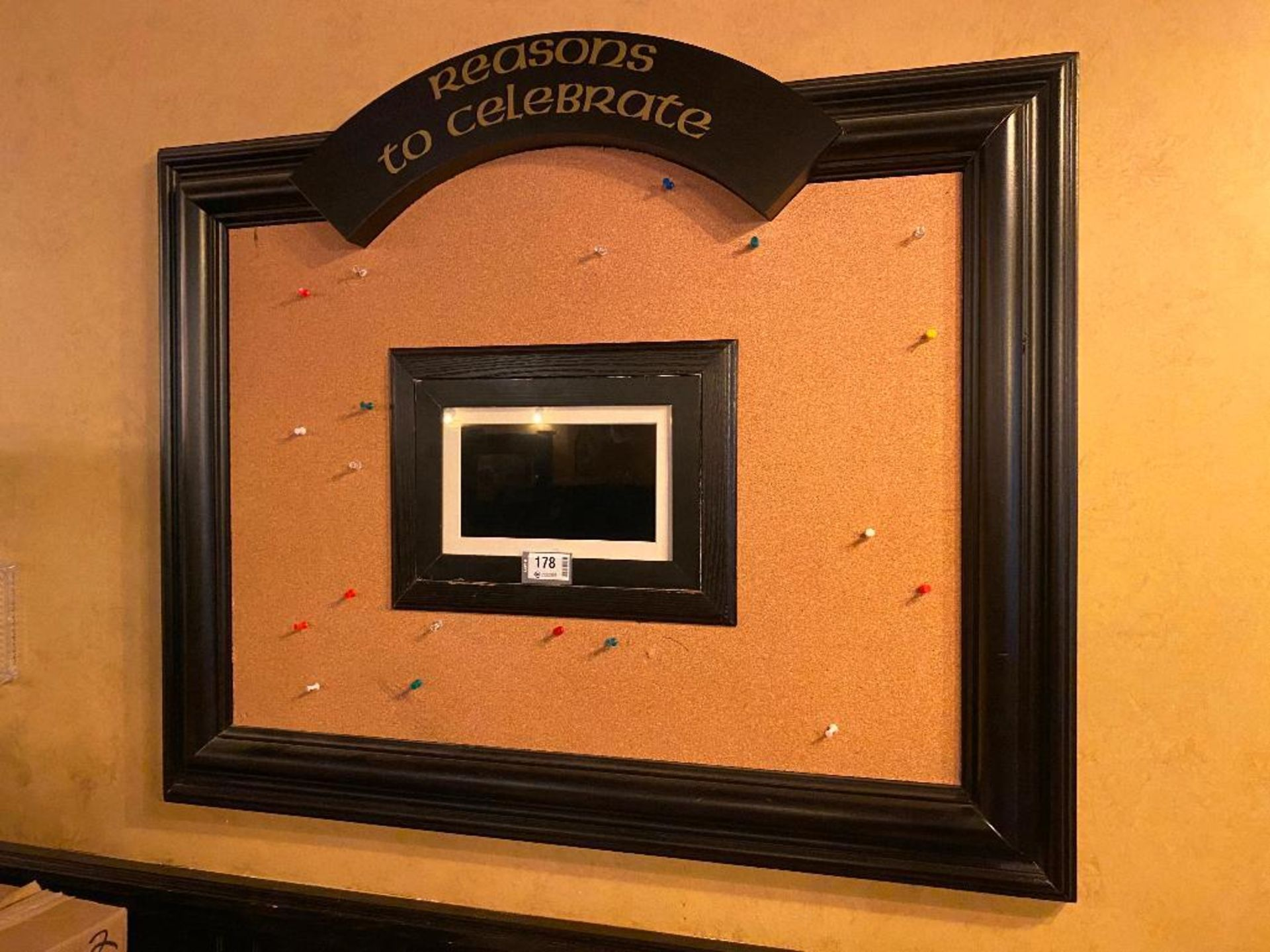 REASONS TO CELEBRATE BOARD WITH DIGITAL PHOTO FRAME - NOTE: REQUIRES REMOVAL FROM WALL, PLEASE INSPE