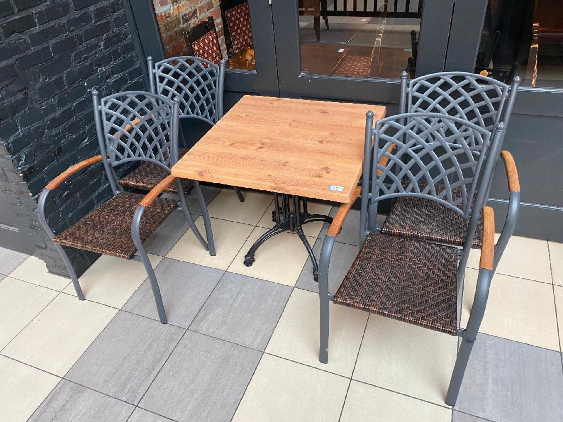 """TOPALIT 31"""" X 31"""" PATIO TABLE WITH 4 CHAIRS - Image 2 of 2"""