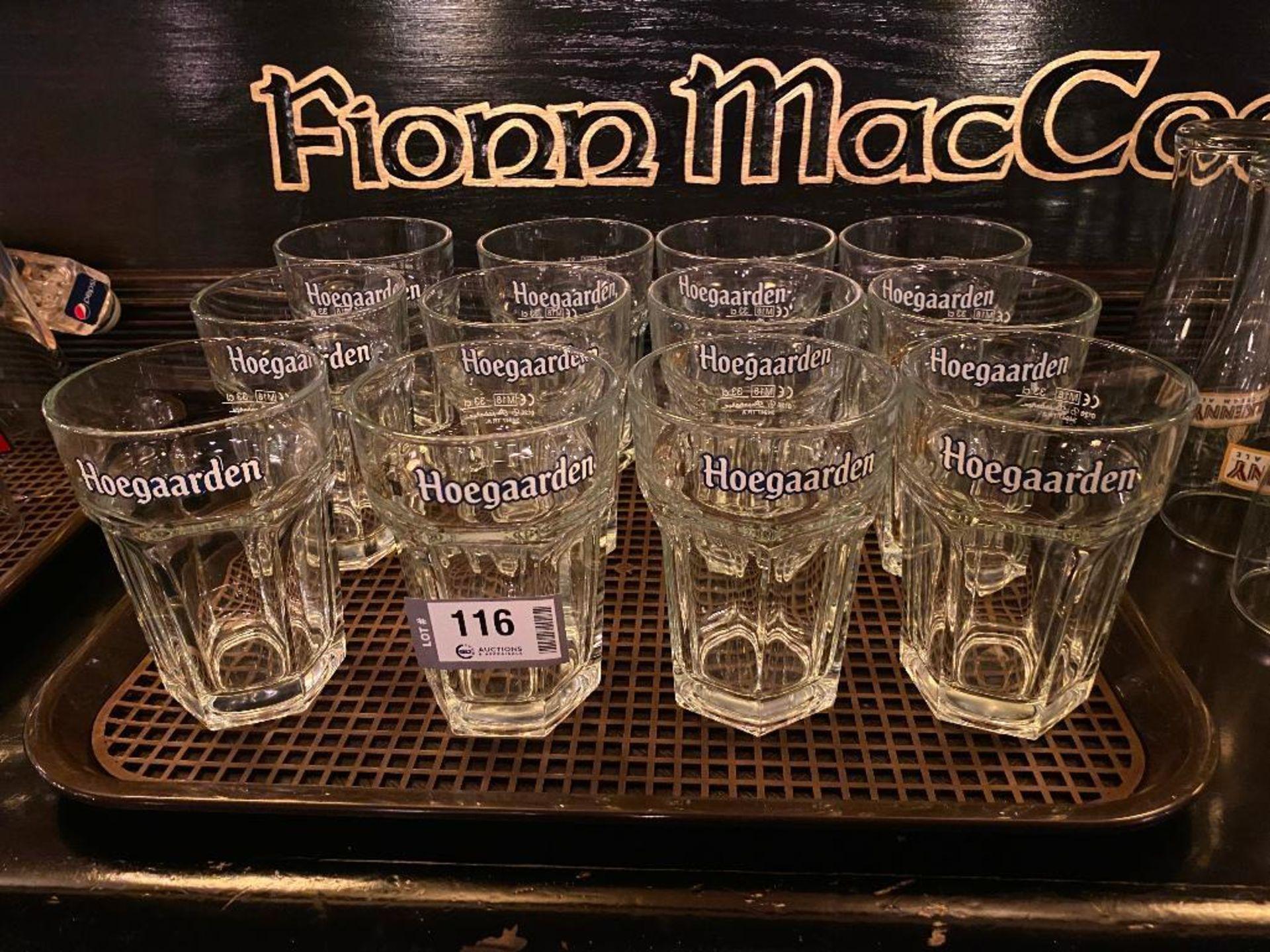 LOT OF (12) HOEGAARDEN 11 OZ GLASSES - Image 2 of 2