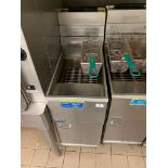 PITCO 40C+ FLOOR TUBE FIRED NATURAL GAS FRYER - NOTE: REQUIRES DISCONNECT, PLEASE INSPECT