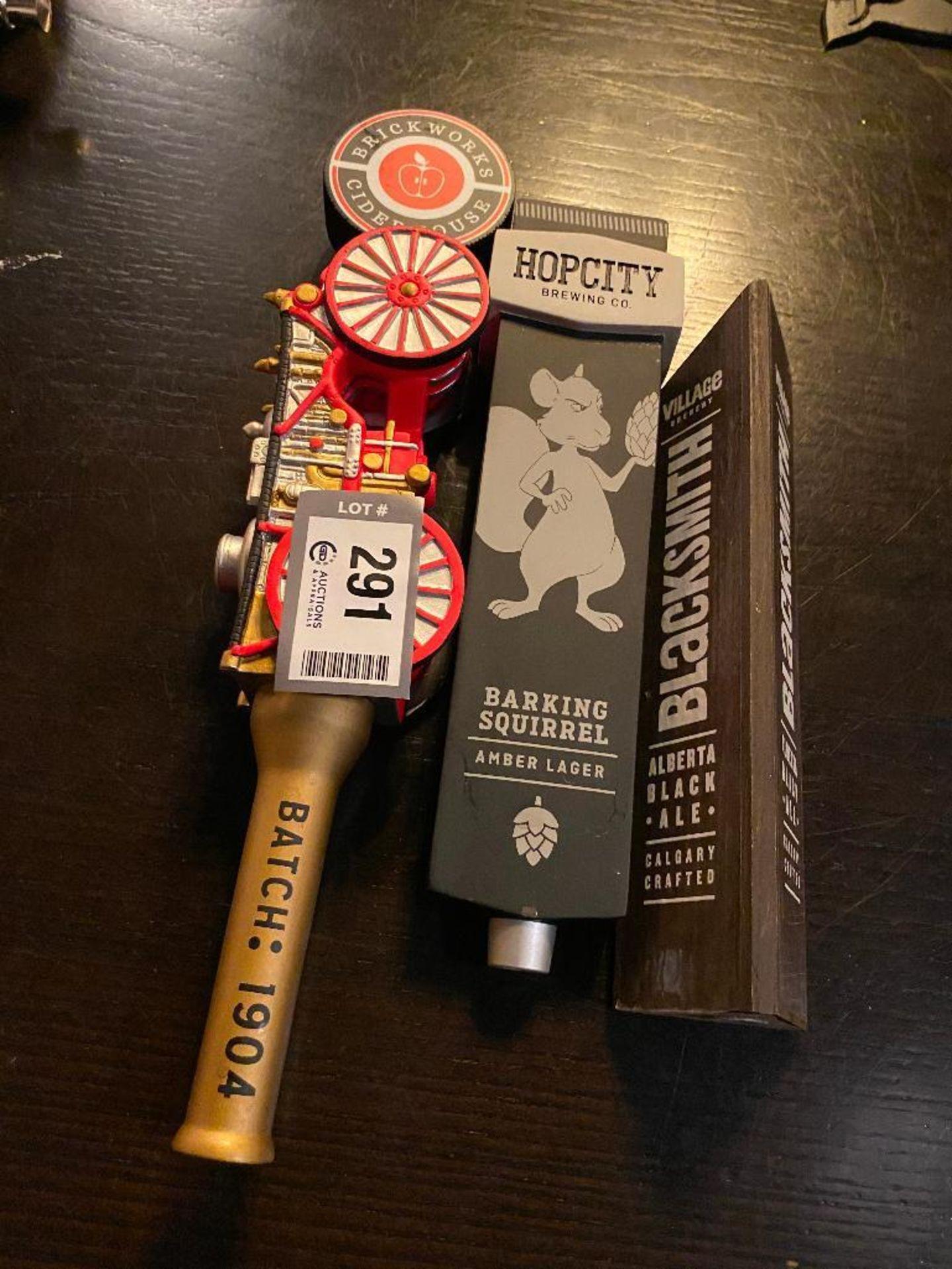LOT OF (3) ASSORTED BEER TAPS