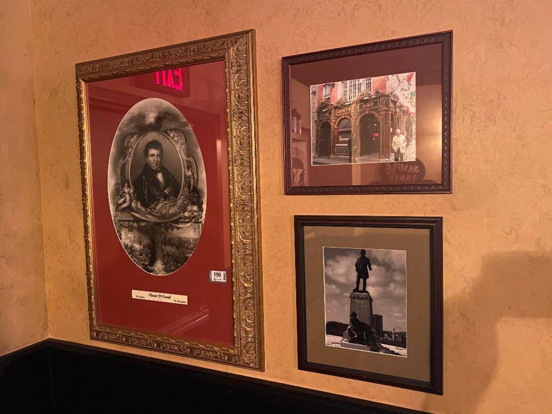 LOT OF (3) FRAMED MEMORABILIA PHOTOS - NOTE: REQUIRES REMOVAL FROM WALL, PLEASE INSPECT