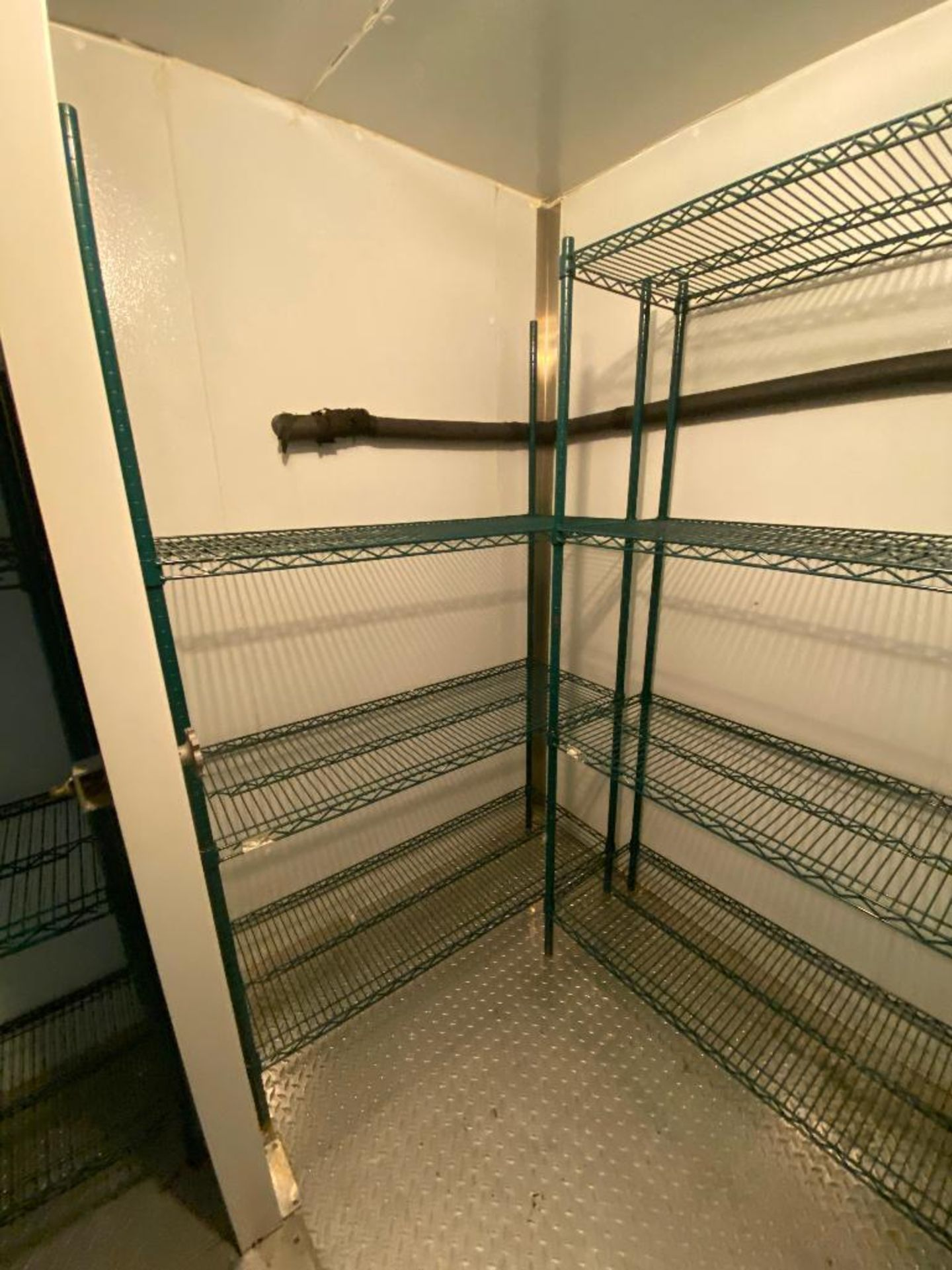 LOT OF (3) GREEN WIRE STORAGE RACKS, ASSORTED SIZES - Image 2 of 4