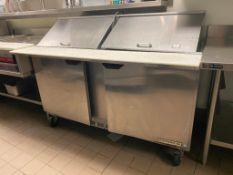 5' BEVERAGE AIR SPE60-24M DOUBLE DOOR SANDWICH PREP TABLE