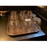 LOT OF (9) STEMLESS WINE GLASSES