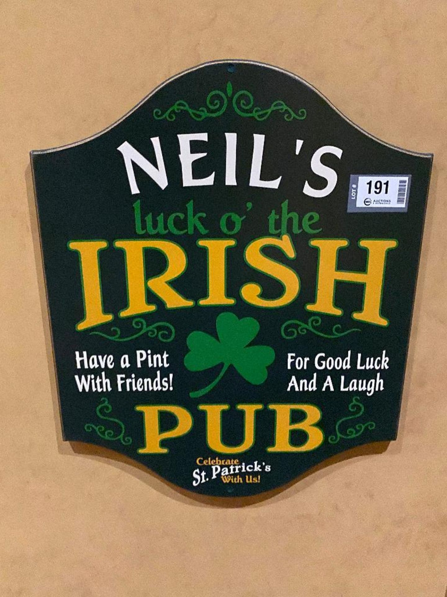 LOT OF (4) FRAMED MEMORABILIA PHOTOS & (1) NEIL'S IRISH PUB PLAQUE - NOTE: REQUIRES REMOVAL FROM WAL - Image 4 of 4
