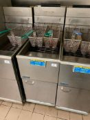 PITCO 40C+ FLOOR TUBE FIRED NATURAL GAS FRYER - NOTE: REQUIRES DISCONNECT,PLEASE INSPECT