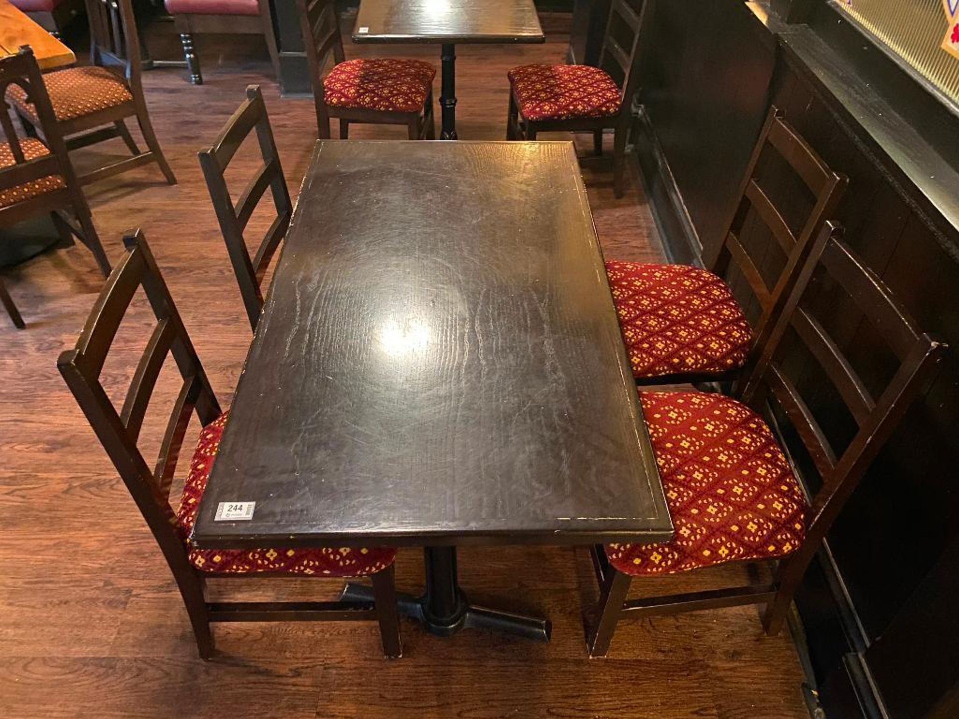 """RECTANGULAR TABLE WITH 4 CHAIRS - 54"""" X 30"""" X 30"""" - Image 2 of 3"""