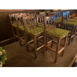 LOT OF (7) BAR STOOLS WITH BACKREST