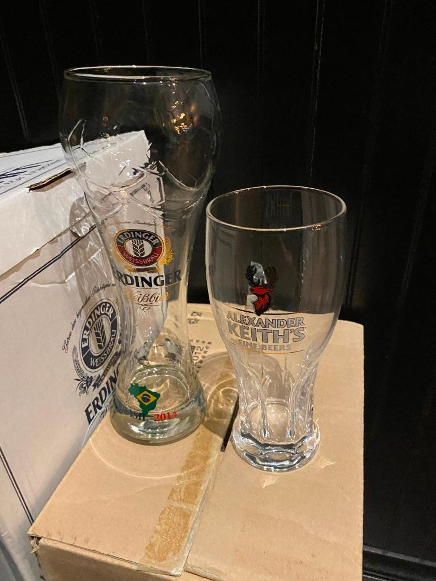 LOT OF (6) BOXES OF ASSORTED BRANDED GLASSES - Image 2 of 2