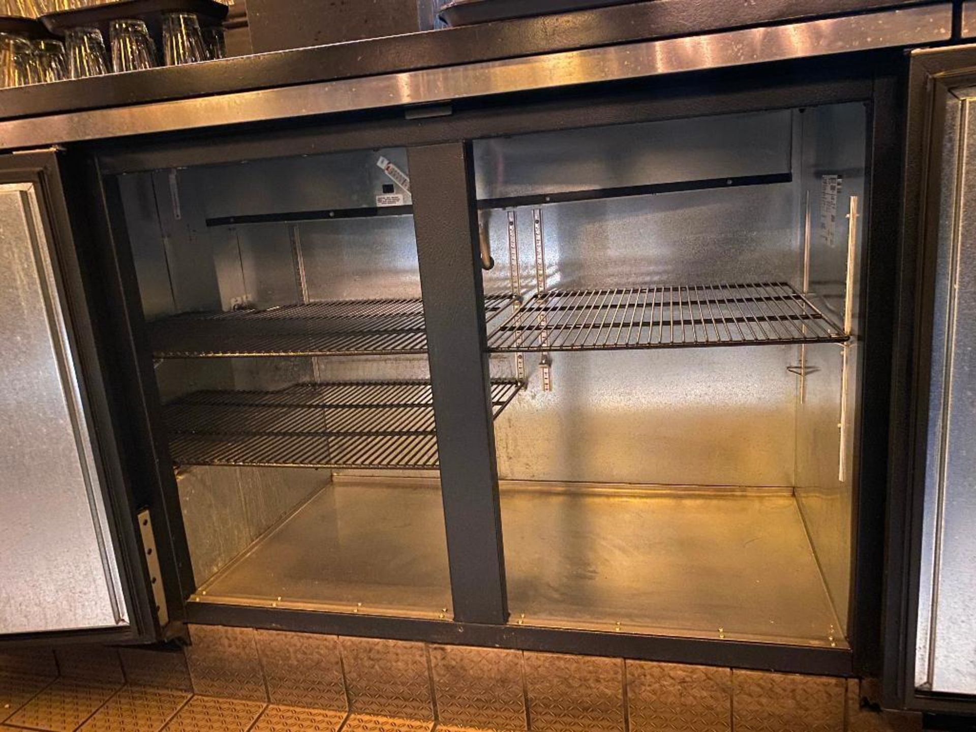 "TRUE TBB-2 59"" 2 DOOR SOLID BACK BAR REFRIGERATOR - NOTE: REQUIRES REMOVAL FROM UNDER BAR, PLEASE IN - Image 3 of 4"
