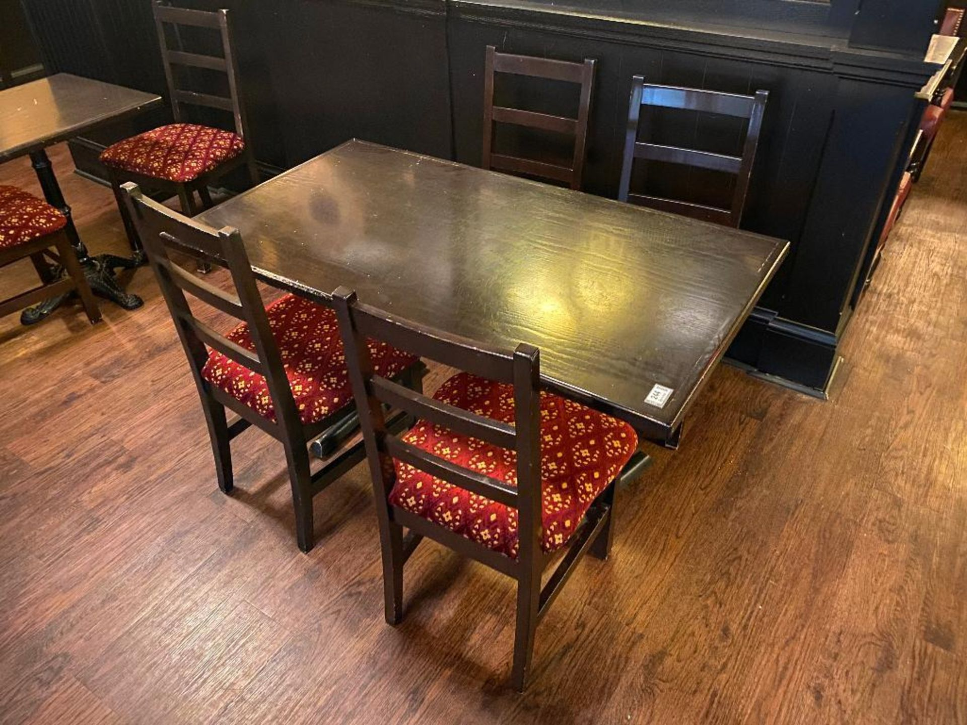 """RECTANGULAR TABLE WITH 4 CHAIRS - 54"""" X 30"""" X 30"""""""