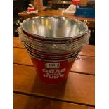 LOT OF BUDWEISER BRANDED METAL PAILS