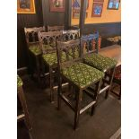LOT OF (6) BAR STOOLS WITH BACKREST