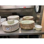 LARGE LOT OF STEELITE INTERNATIONAL MADE IN ENGLAND DINNERWARE