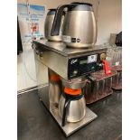 CURTIS D60GT COMMERCIAL THERMAL BREWER WITH (3) THERMAL POURPOTS - NOTE: REQUIRES DISCONNECT, PLEASE