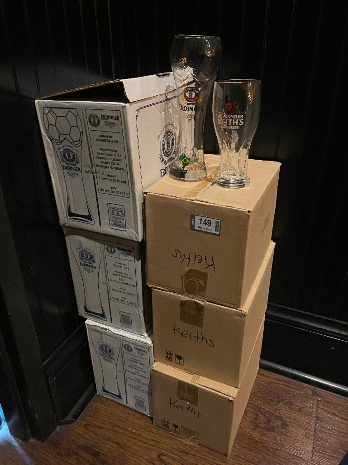 LOT OF (6) BOXES OF ASSORTED BRANDED GLASSES