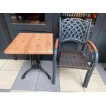 "TOPALIT 23"" X 23"" PATIO TABLE WITH 2 CHAIRS"