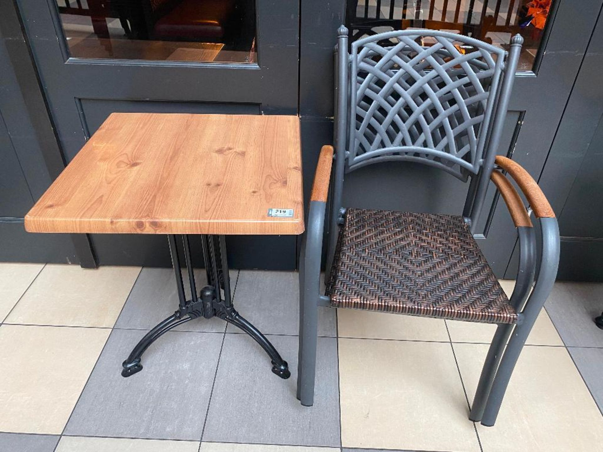 """TOPALIT 23"""" X 23"""" PATIO TABLE WITH 2 CHAIRS"""
