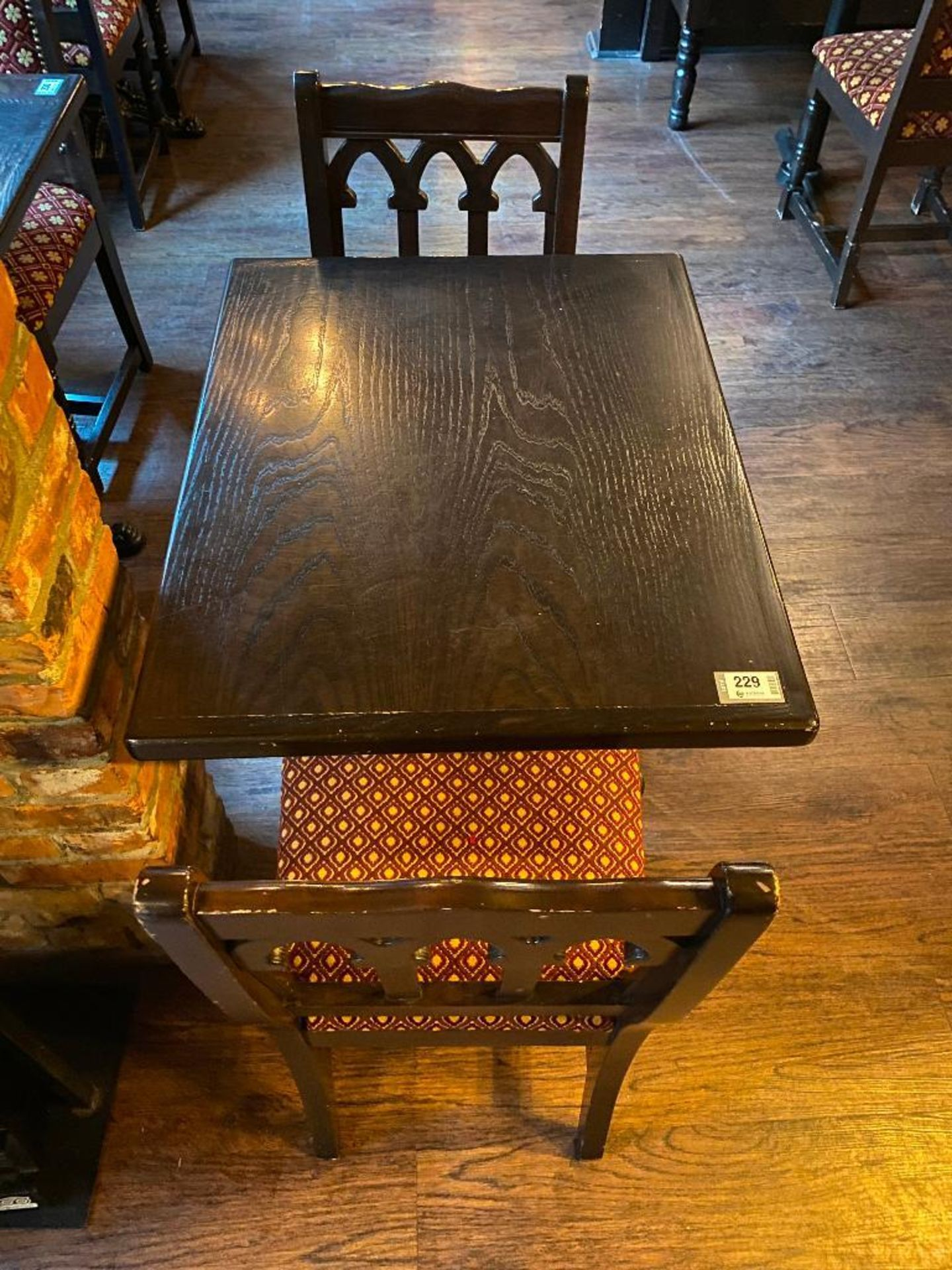 """30"""" X 24"""" WOOD TOP TABLE WITH 2 CHAIRS - 30"""" X 24"""" X 29.5"""" - Image 2 of 2"""