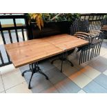 "LOT OF (2) TOPALIT 31"" X 31"" PATIO TABLE WITH 5 CHAIRS"
