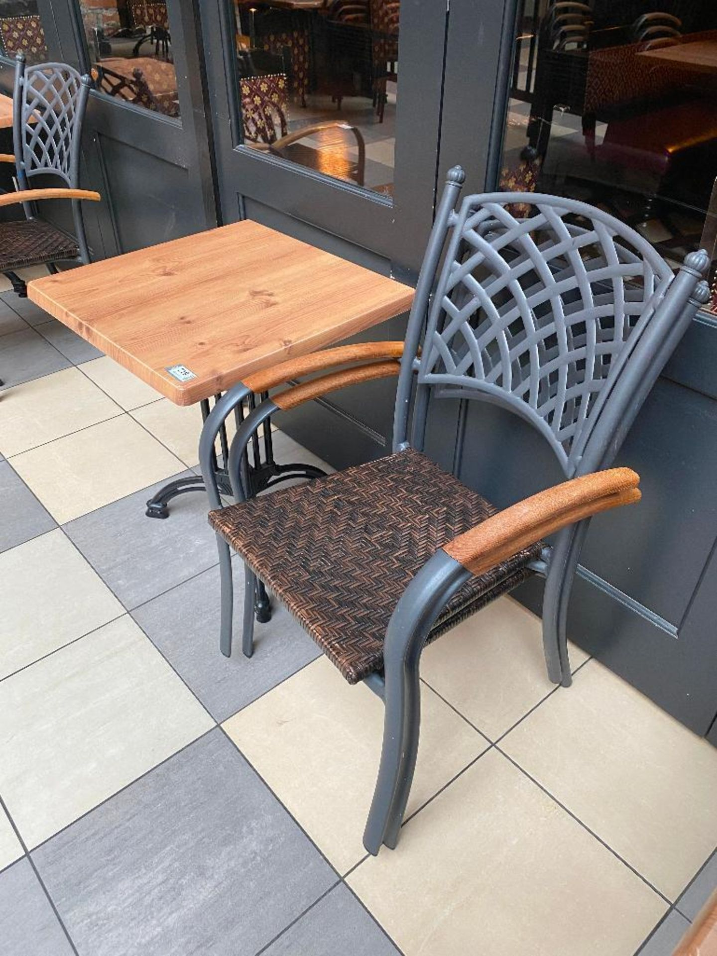 """TOPALIT 23"""" X 23"""" PATIO TABLE WITH 2 CHAIRS - Image 2 of 4"""