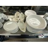 LOT OF ASSORTED DINNERWARE INCLUDING: PLATES, BOWLS, SOUP BOWLS & LASAGNA BOWLS