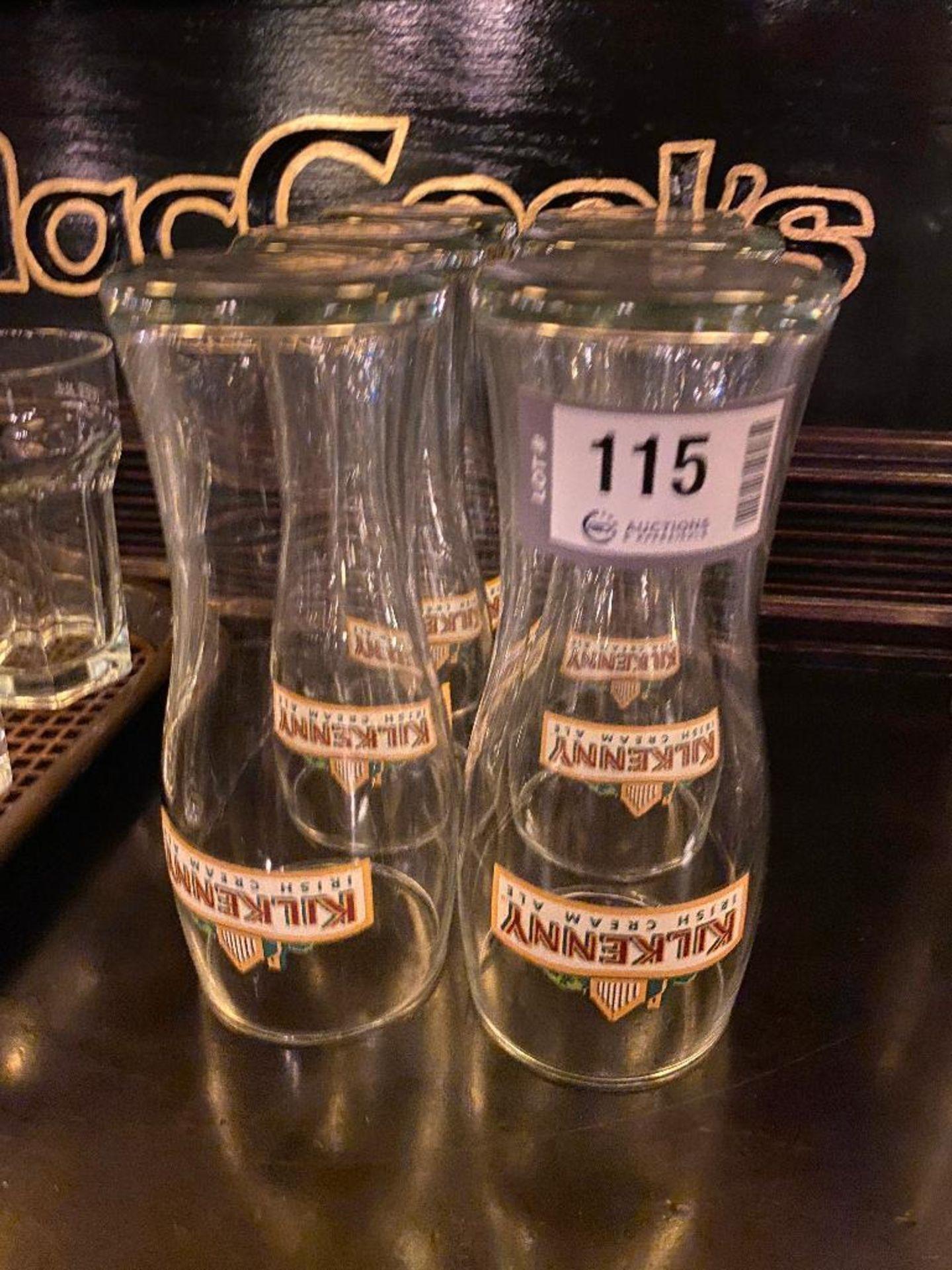 LOT OF (6) KILKENNY IRISH CREAM ALE GLASSES