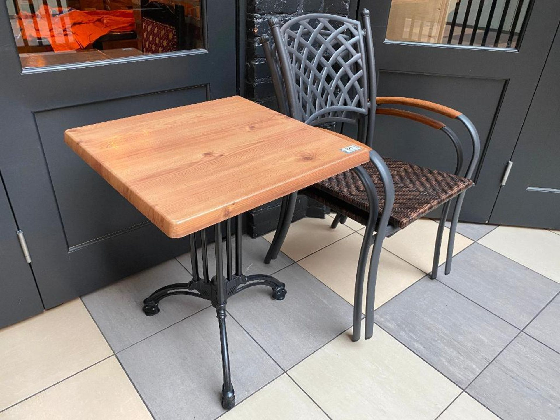 "TOPALIT 23"" X 23"" PATIO TABLE WITH 2 CHAIRS - Image 2 of 2"