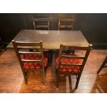 """RECTANGULAR TABLE WITH 4 CHAIRS - 53"""" X 30"""" X 30"""""""