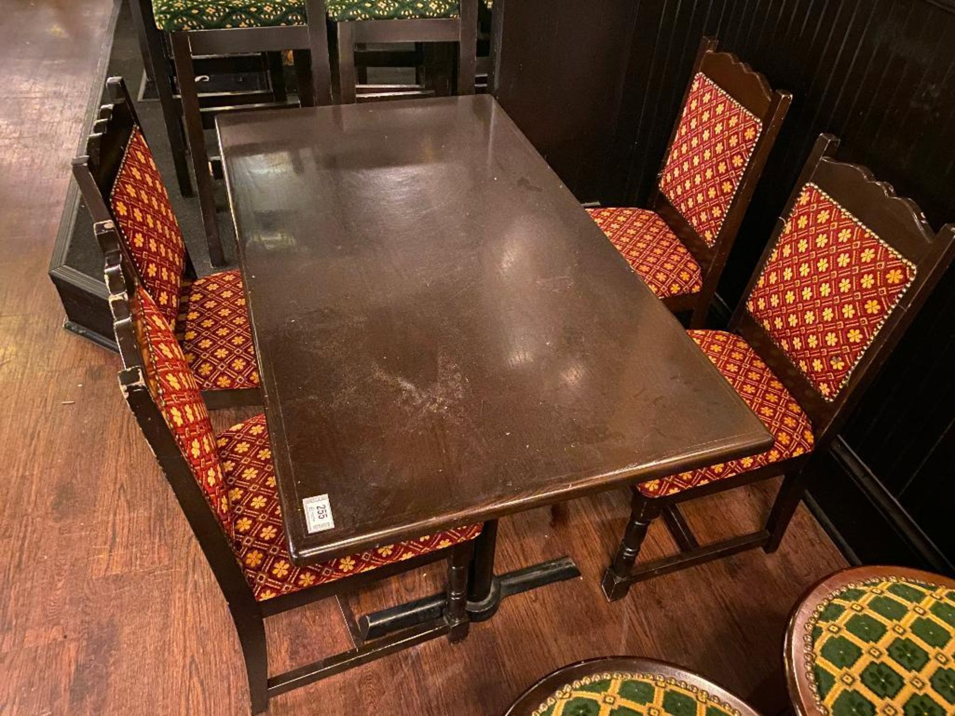"""RECTANGULAR TABLE WITH 4 CHAIRS - 54"""" X 30"""" X 30"""" - Image 2 of 2"""