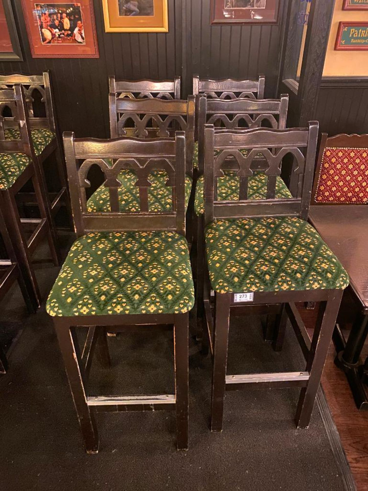 LOT OF (6) BAR STOOLS WITH BACKREST - Image 2 of 2