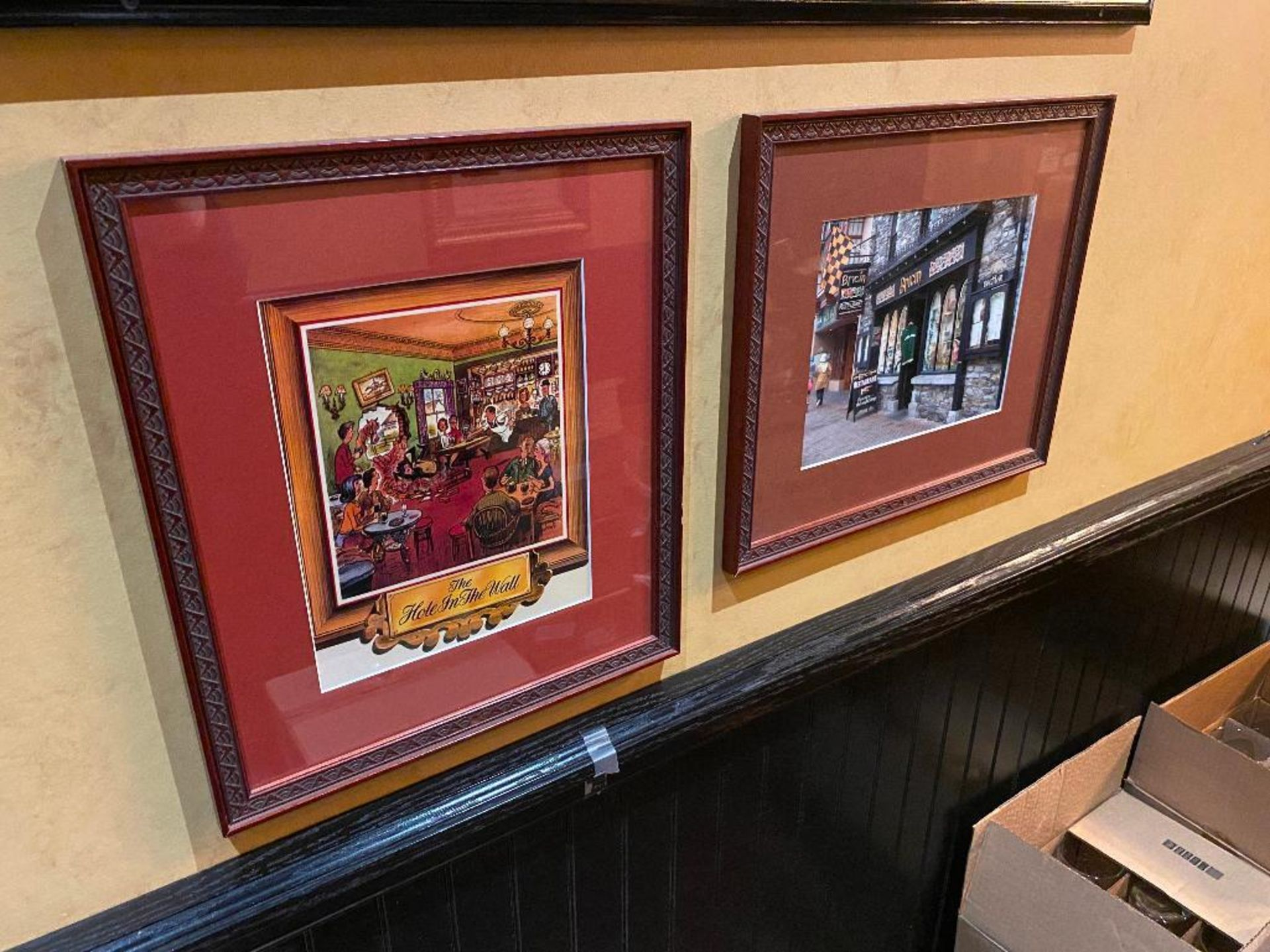 LOT OF (3) FRAMED MEMORABILIA PHOTOS & (1) GUINNESS MIRROR - NOTE: REQUIRES REMOVAL FROM WALL, PLEAS - Image 2 of 5