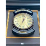 GUINNESS TIME WALL CLOCK - NOTE: REQUIRES REMOVAL FROM WALL, PLEASE INSPECT