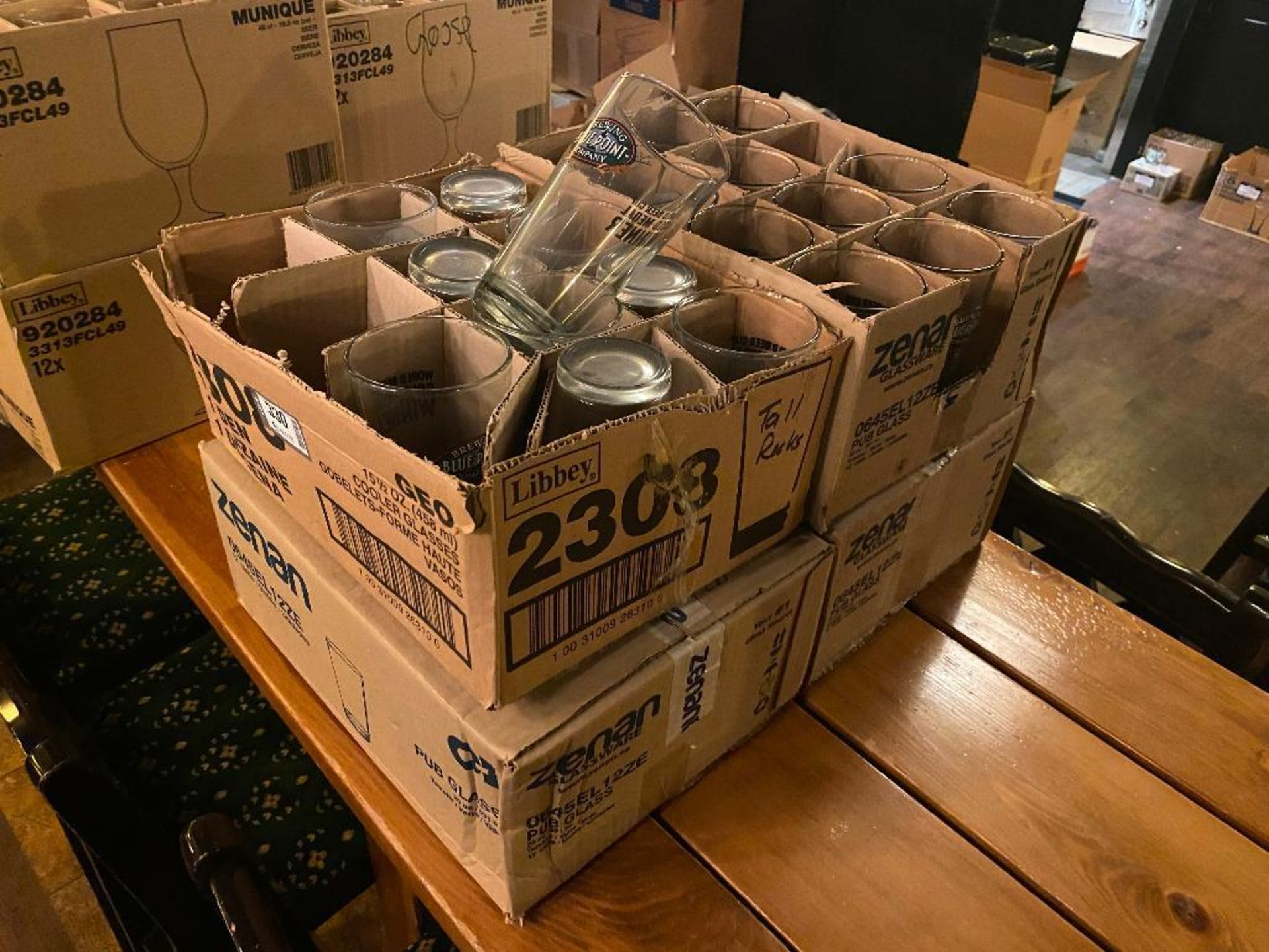 LOT OF (4) BOXES OF BLUE POINT BREWING GLASSES