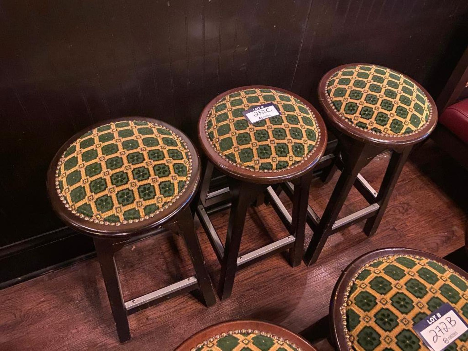 "LOT OF (3) 30"" TALL BAR STOOLS"