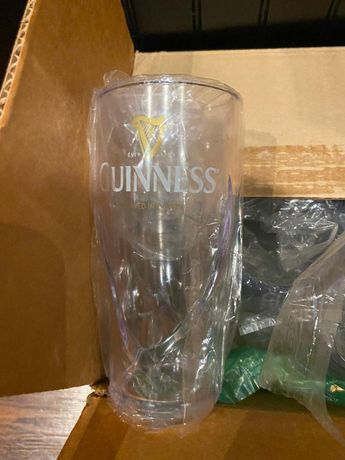 LOT OF (5) BOXES OF 12 OZ PLASTIC TUMBLERS & (2) BOXES OF PLASTIC GUINNESS GLASSES - Image 5 of 5