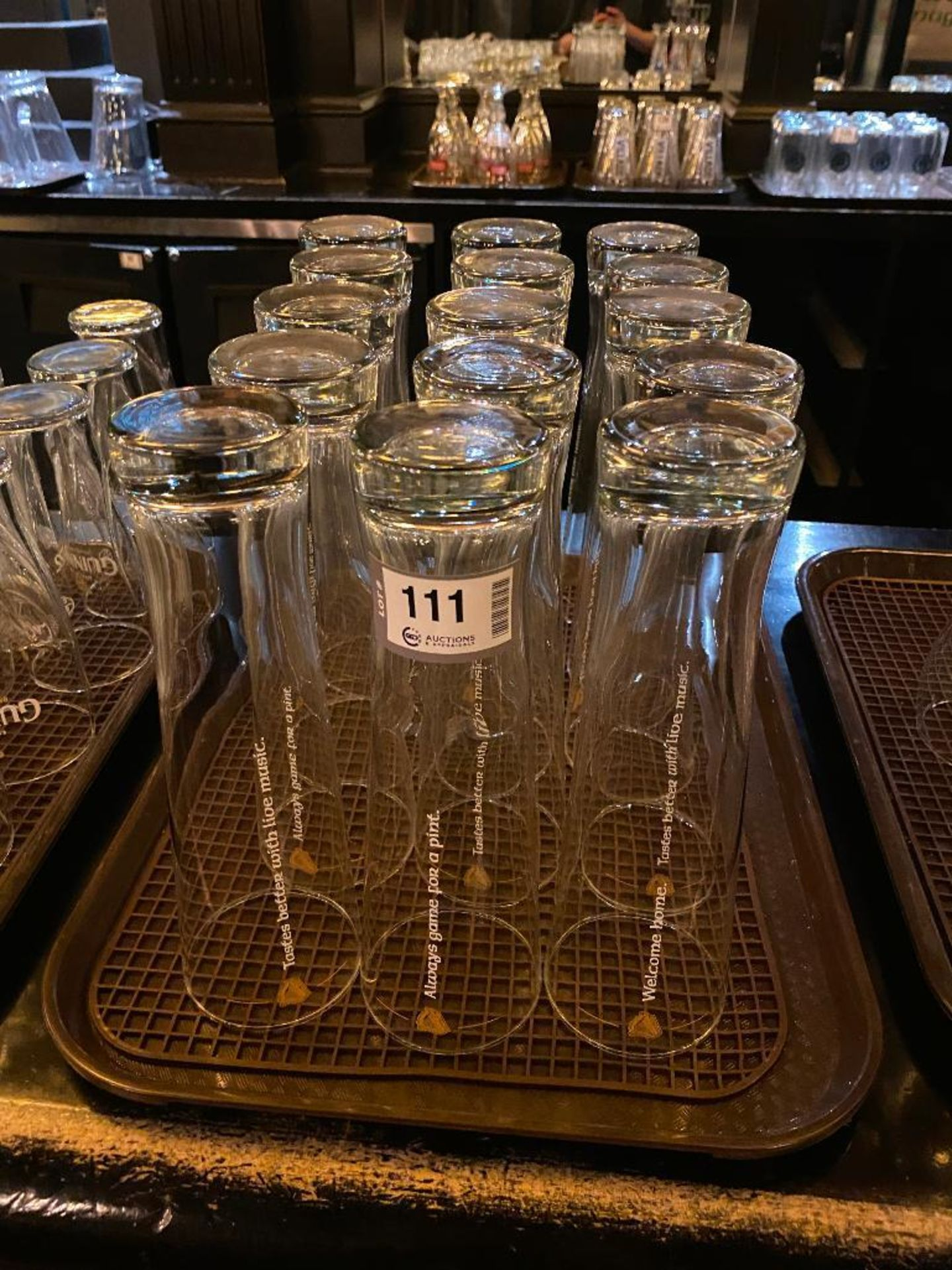 LOT OF (15) TALL GUINNESS GLASSES