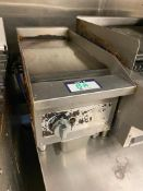 """VOLLRATH 12"""" COUNTERTOP FLAT TOP - NOTE: REQUIRES DISCONNECT, PLEASE INSPECT"""