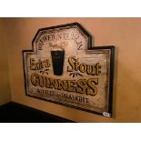 GUINNESS EXTRA STOUT WOODEN PLAQUE - NOTE: REQUIRES REMOVAL FROM WALL, PLEASE INSPECT