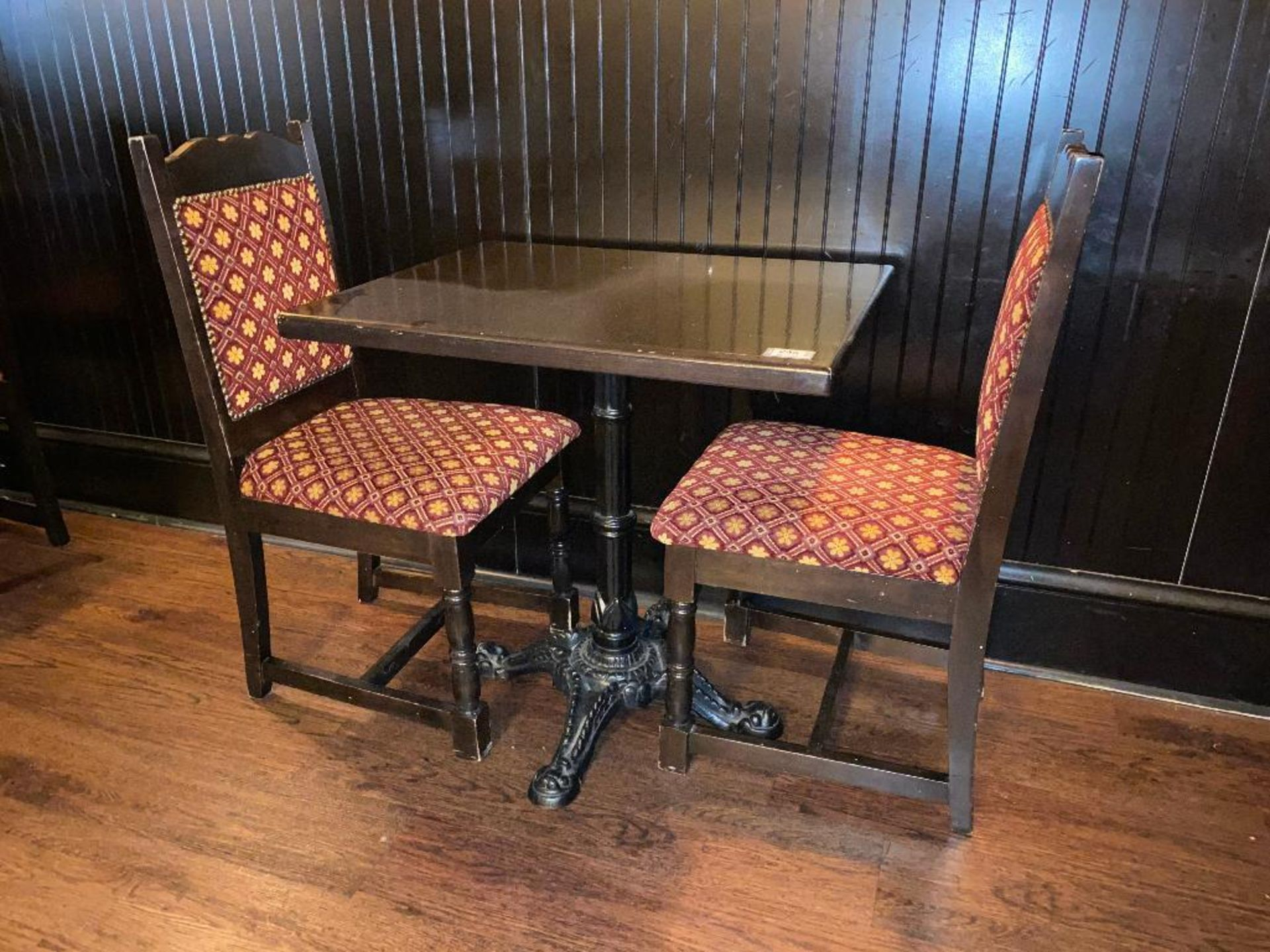 """30"""" X 24"""" WOOD TOP TABLE WITH 2 CHAIRS - 30"""" X 24"""" X 29.5"""" - Image 3 of 3"""