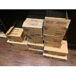 LOT OF (11) BOXES OF ASSORTED BRANDED GLASSES