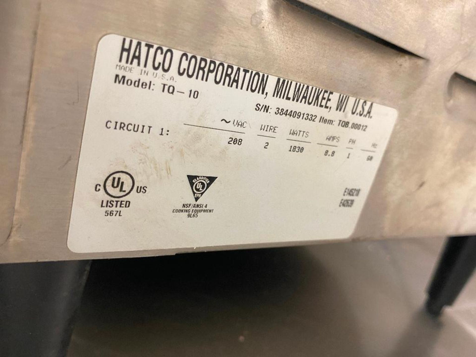 HATCO TQ-10 TOAST-QWIK CONVEYOR TOASTER - Image 5 of 5